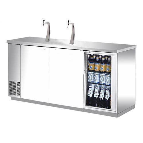 kegerator 3 door keg fridge