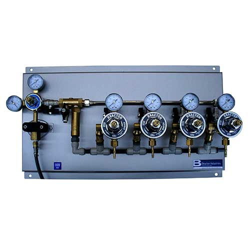 bracton CO2 regulator gas board