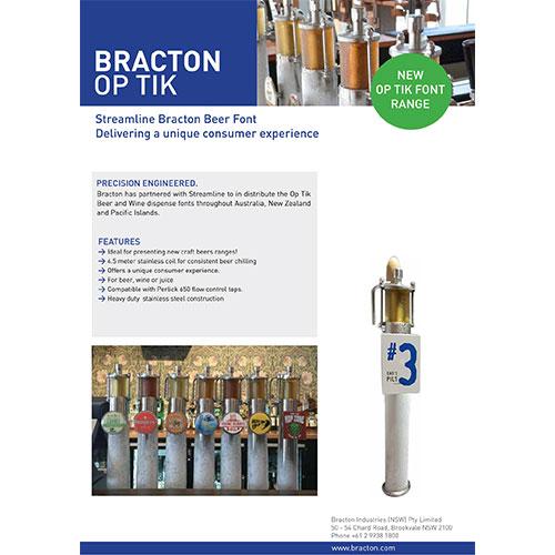 optik beer font brochure