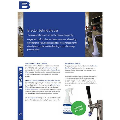 bracton cleaning chemicals behind the bar brochure